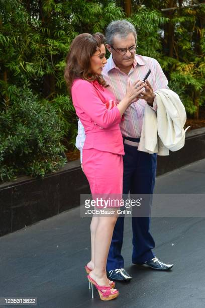 Christina DeRosa is seen on September 16, 2021 in Los Angeles, California.