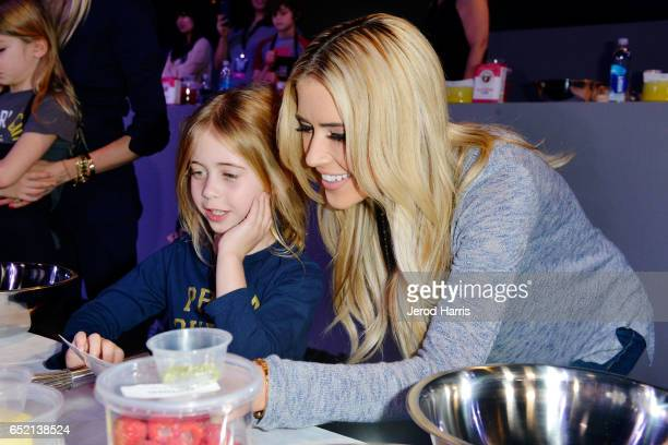 Christina El Moussa and daughter Taylor attend the All-Star Chef Classic at L.A. Live Event Deck on March 11, 2017 in Los Angeles, California.