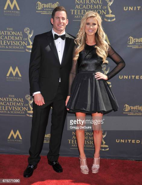 Christina El Moussa and Tarek El Moussa arrive at the 44th Annual Daytime Emmy Awards at Pasadena Civic Auditorium on April 30, 2017 in Pasadena,...