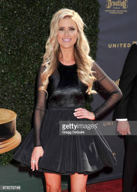 Christina El Moussa arrives at the 44th Annual Daytime Emmy Awards at Pasadena Civic Auditorium on April 30, 2017 in Pasadena, California.
