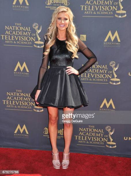 Christina El Moussa arrives at the 44th Annual Daytime Emmy Awards at Pasadena Civic Auditorium on April 30 2017 in Pasadena California