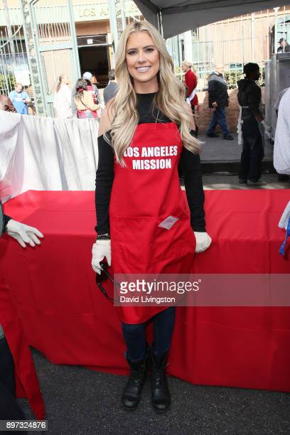 Christina El Moussa is seen at the Los Angeles Mission's Christmas Celebration on Skid Row on December 22 2017 in Los Angeles California