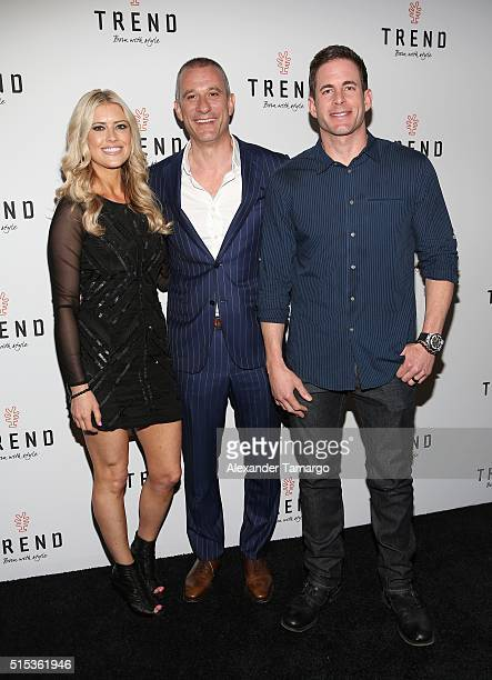 Christina El Moussa of HGTV's 'Flip or Flop' new North American brand ambassadors Andrea Di Giuseppe Global CEO and Tarek El Moussa of HGTV's 'Flip...
