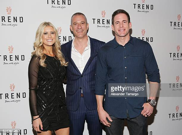 Christina El Moussa of HGTV's 'Flip or Flop' new North American brand ambassador Andrea Di Giuseppe Global CEO and Tarek El Moussa of HGTV's 'Flip or...