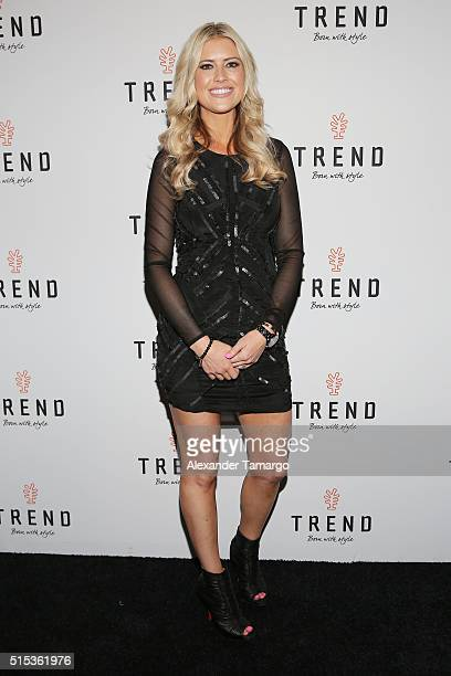 Christina El Moussa of HGTV's Flip or Flop new North American brand ambassador attends the TREND Group and Granite Transformations global rebranding...