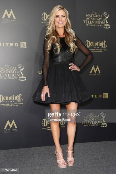 Christina El Moussa poses in the Press Room during the 44th Annual Daytime Emmy Awards at Pasadena Civic Auditorium on April 30 2017 in Pasadena...