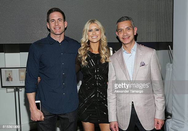 Christina El Moussa Tarek El Moussa of HGTV's 'Flip or Flop' new North American brand ambassadors and Jamie Diaz attend the TREND Group and Granite...