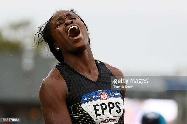 Christina Epps competes in the Women's Triple Jump Final during the 2016 US Olympic Track Field Team Trials at Hayward Field on July 7 2016 in Eugene...