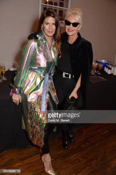 Christina Estrada and Amanda Eliasch attend the Chris Levine 'Inner [Deep] Space' in benefit of Elton John AIDS Foundation private view hosted by...