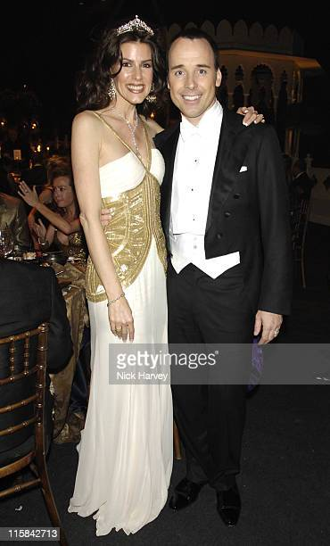 Christina Estrada and David Furnish during The 8th Annual White Tie and Tiara Ball to Benefit the Elton John AIDS Foundation in Association with...