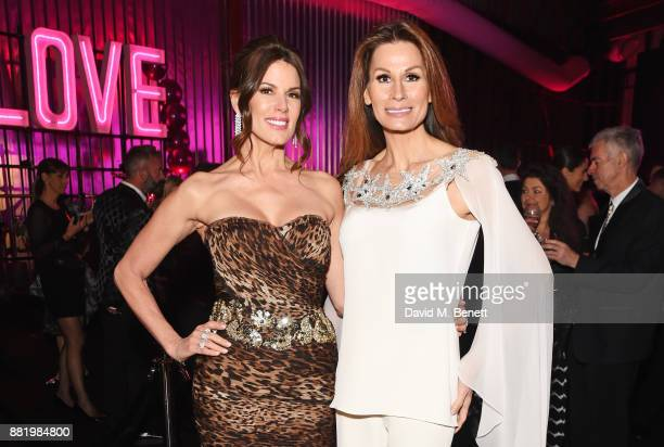 Christina Estrada and Isabell Kristensen attend CLUB LOVE for the Elton John AIDS Foundation in association with BVLGARI on November 29 2017 in...