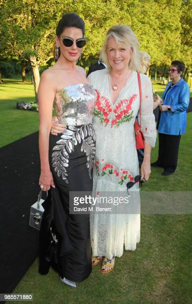 Christina Estrada and Louise Fennell attend the Argento Ball for the Elton John AIDS Foundation in association with BVLGARI Bob and Tamar Manoukian...