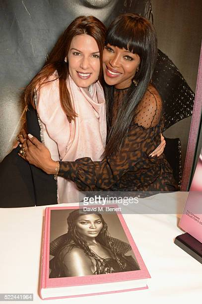Christina Estrada and Naomi Campbell attend as Naomi Campbell launches her new book Naomi at the Taschen Store on April 19 2016 in London England