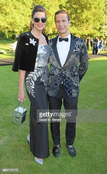 Christina Estrada and Robert Tateossian attend the Argento Ball for the Elton John AIDS Foundation in association with BVLGARI Bob and Tamar...