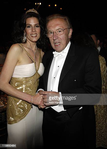 Christina Estrada and Sir David Frost during The 8th Annual White Tie and Tiara Ball to Benefit the Elton John AIDS Foundation in Association with...