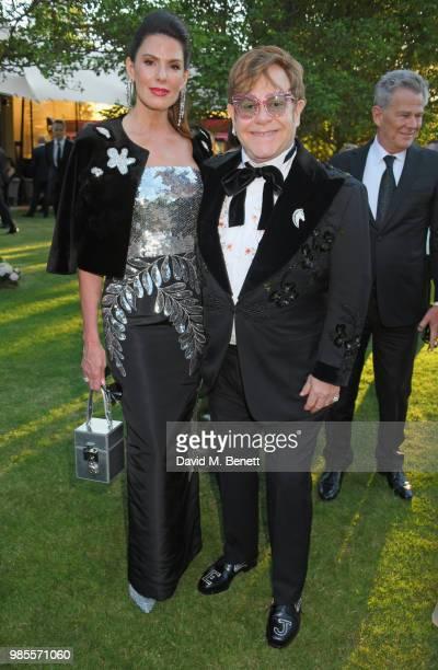 Christina Estrada and Sir Elton John attend the Argento Ball for the Elton John AIDS Foundation in association with BVLGARI Bob and Tamar Manoukian...