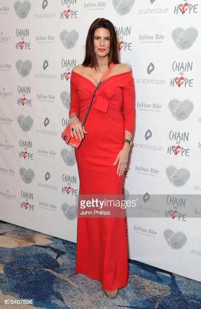 Christina Estrada arriving at the Chain Of Hope Gala Ball held at Grosvenor House, on November 17, 2017 in London, England.
