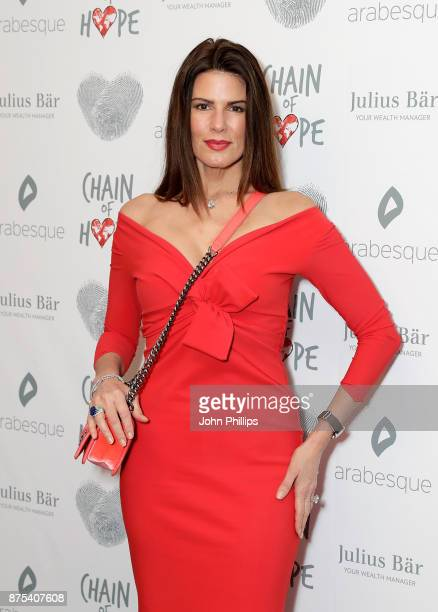 Christina Estrada arriving at the Chain Of Hope Gala Ball held at Grosvenor House on November 17 2017 in London England