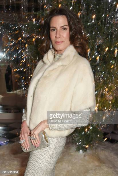 Christina Estrada attends Claridge's Christmas Tree Party 2017 designed by Karl Lagerfeld on November 28 2017 in London United Kingdom