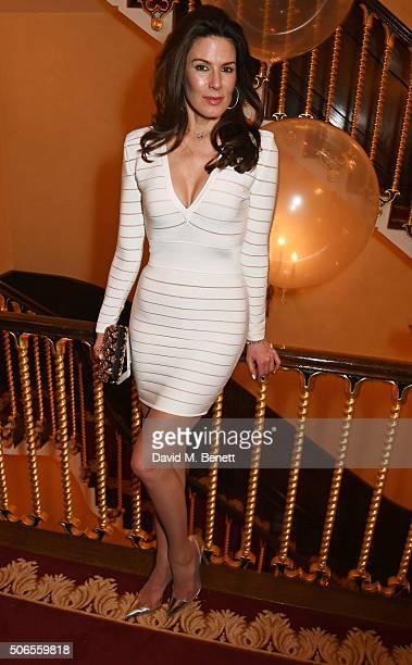 Christina Estrada attends Lisa Tchenguiz's birthday party on January 23, 2016 in London, England.