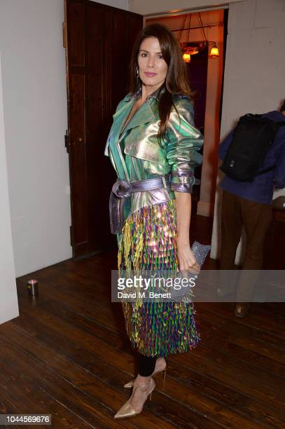 Christina Estrada attends the Chris Levine 'Inner [Deep] Space' in benefit of Elton John AIDS Foundation private view hosted by David Furnish and...