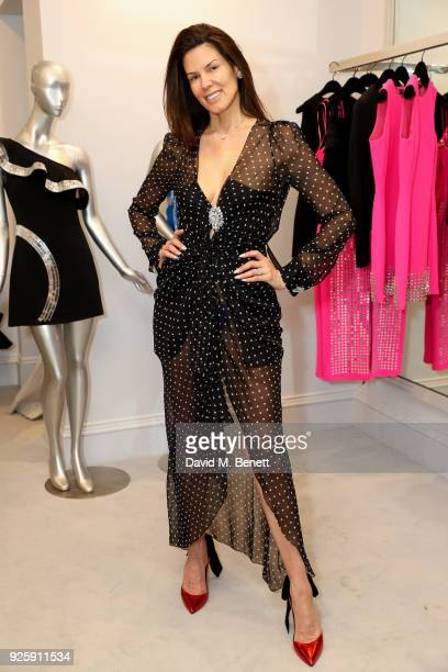 Christina Estrada attends the David Koma SS18 collection presentation at 29 Lowndes on February 28 2018 in London England