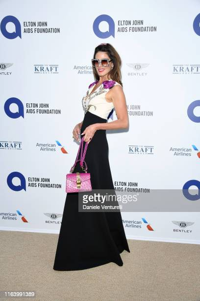 """Christina Estrada attends the first """"Midsummer Party"""" hosted by Elton John and David Furnish to raise funds for the Elton John Aids Foundation on..."""