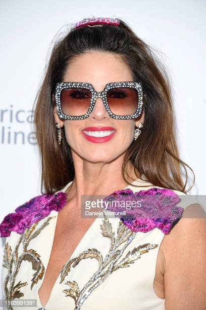 "Christina Estrada attends the first ""Midsummer Party"" hosted by Elton John and David Furnish to raise funds for the Elton John Aids Foundation on..."