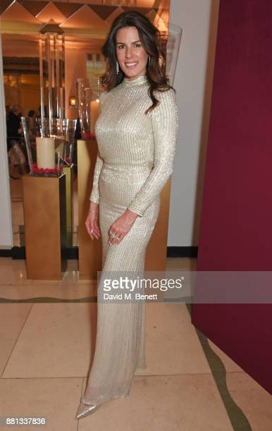 Christina Estrada attends the Lady Garden Gala in aid of Silent No More Gynaecological Cancer Fund and Cancer Research UK at Claridge's Hotel on...