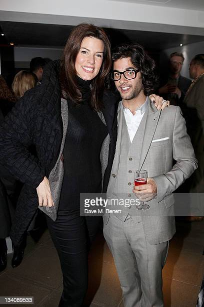 Christina Estrada Juffali and Benjamin Khalili attend a private viewing of 'Art Rocks Contemporary Jewellery' at Shizaru Gallery on November 24 2011...