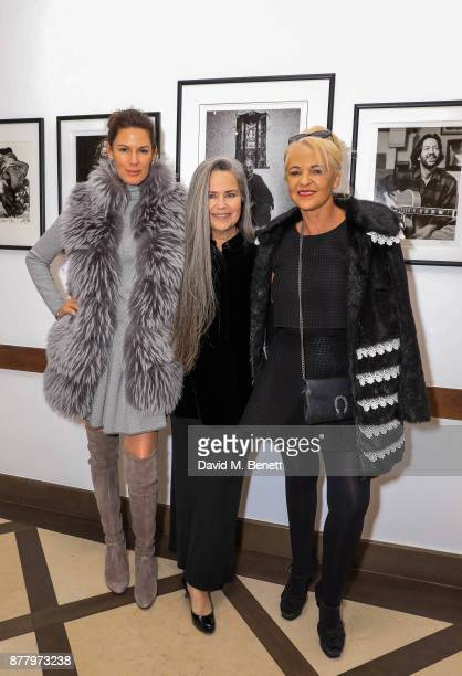 Christina Estrada Koo Stark and Amanda Eliasch attend a private view of Koo Stark's exhibition 'Kintsugi Portraits' at Galleria San Lorenzo on...