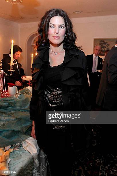 """Christina Estrada, model and wife of Saudi billionaire Walid Juffali, attends the Damien Hirst """"Death In Venice"""" opening party at Palazzo Mocenigo on..."""