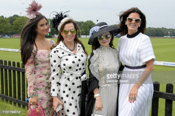 Christina Estrada with guests attend the OUTSOURCING Inc Royal Windsor Cup Final on June 23 2019 in Windsor England
