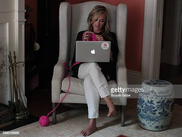 Christina Fagan who founded a local knitting company knits while she watches Netflix Aug 10 2016 An online community of young adults has formed...