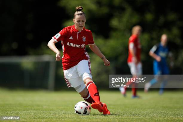 Christina Fink of FC Bayern Munich II in action during the match between 1899 Hoffenheim II and FCB Muenchen II at St Leon football ground on May 21...