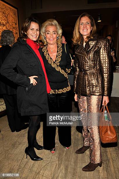 Christina Floyd Terry Allen Kramer and Polly Onet attend THROUGH THE LENS OF NATHANIEL KRAMER Exhibition Opening at GUY REGAL on October 29 2008 in...