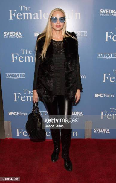 Christina Fulton arrives for the premiere of IFC Films' The Female Brain at ArcLight Hollywood on February 1 2018 in Hollywood California