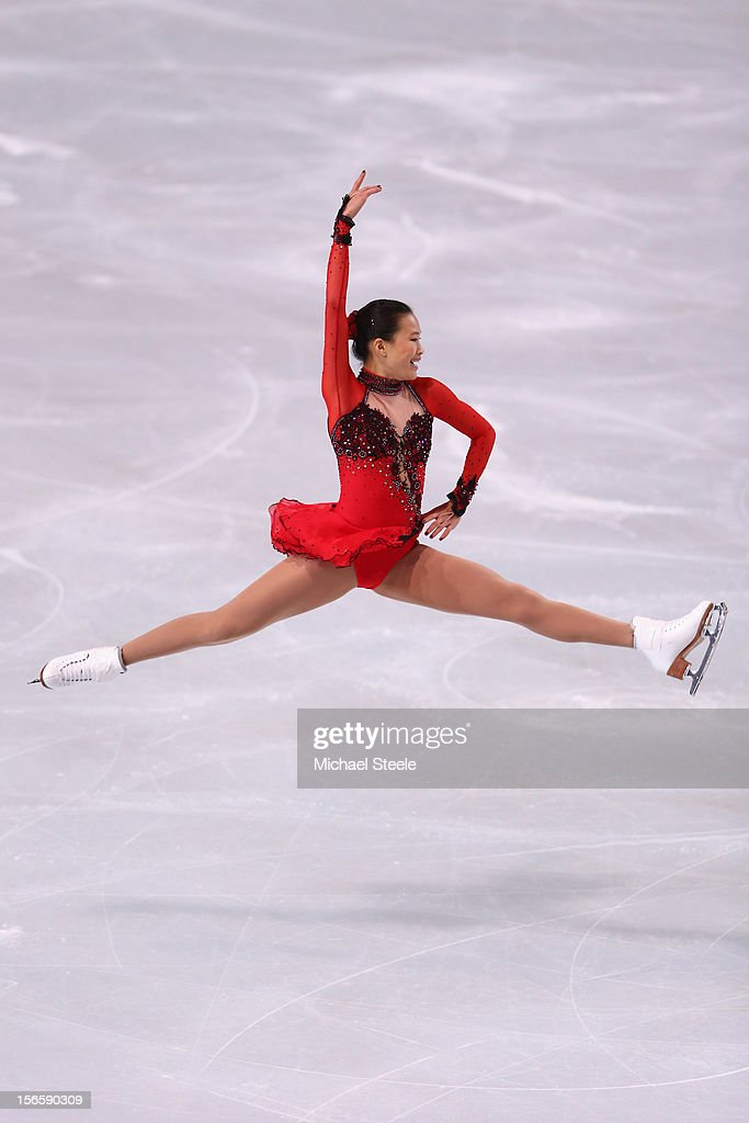 Christina Gao of USA during the Ladies Free Skating Program during day two of the ISU Grand Prix of Figure Skating Trophee Eric Bompard at Omnisports Bercy on November 17, 2012 in Paris, France.