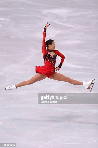 Christina Gao of USA during the Ladies Free Skating Program during day two of the ISU Grand Prix of Figure Skating Trophee Eric Bompard at Omnisports...