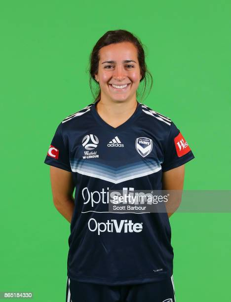 Christina Gibbons poses during the Melbourne Victory WLeague headshots session on October 22 2017 in Melbourne Australia