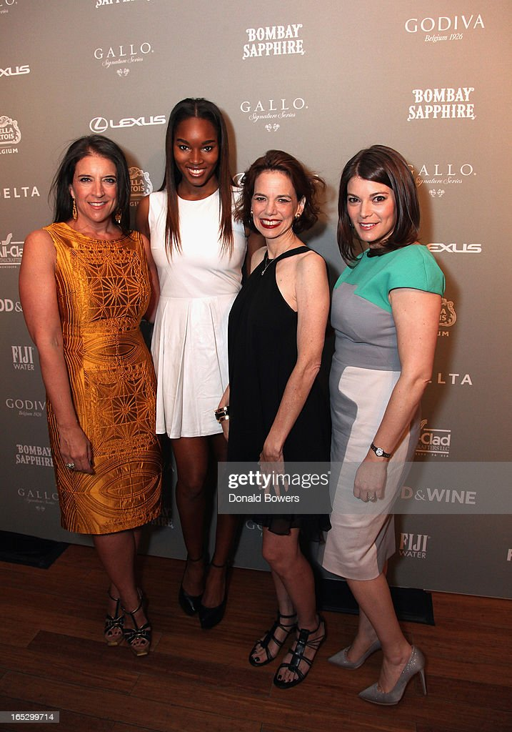 Christina Grdovic, Damaris Lewis, Dana Cowin and Gail Simmons attend The FOOD & WINE 2013 Best New Chefs Party at Pranna Restaurant on April 5, 2013 in New York City.