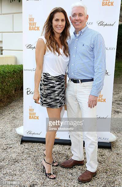 Christina Greeven Cuomo and Father Edward Beck attend the after party for a special Hamptons screening of The WayWay Back at Goose Creek on June 29...