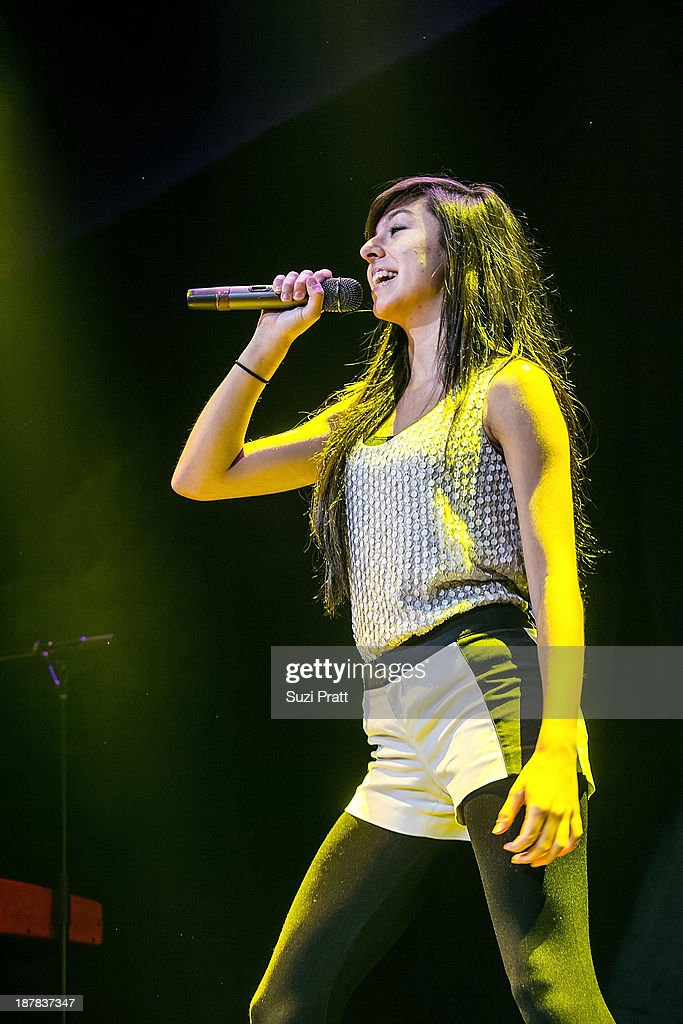 Christina Grimmie performs live at Key Arena on November 12, 2013 in Seattle, Washington.