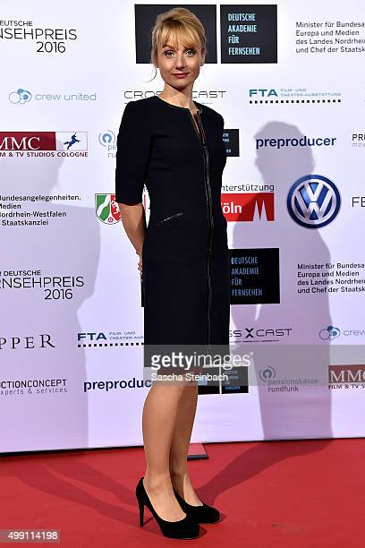Christina Grosse attends the German television award by the Deutsche Akademie fuer Fernsehen at Museum Ludwig on November 28 2015 in Cologne Germany
