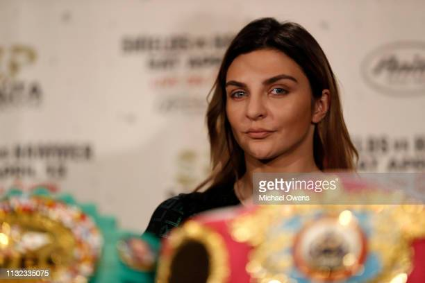 Christina Hammer during the press conference between Claressa Shields and Christina Hammer at the Dream Hotel Downtown on February 26 2019 in New...