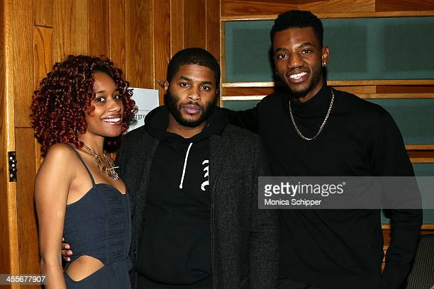 Christina Hammond Andale Edwards and actor Jermaine Crawford attend PS Underground NYC with Grammy Artists Helping Hurricane Sandy Relief hosted by...