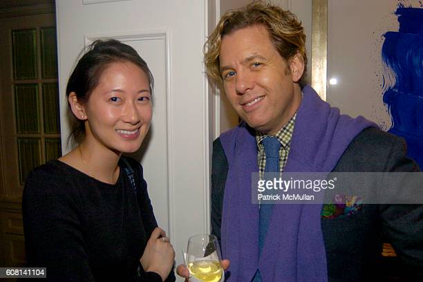 Christina Han and Michael S Smith attend MICHAEL S SMITH AGRARIA COLLECTION LAUNCH at Lowell Hotel on April 18 2007
