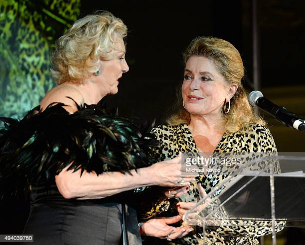 Christina Hassell presents honoree Catherine Deneuve with the Christina Hassell Lifetime Achievement Award at the 6th Annual Hawaii European Cinema...