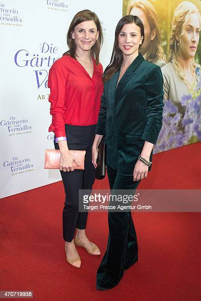 Christina Hecke and Aylin Tezel attend the German premiere for the film 'A Little Chaos' at Kino in der Kulturbrauerei on April 22 2015 in Berlin...