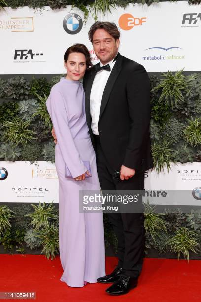 Christina Hecke and Ronald Zehrfeld during the Lola German Film Award red carpet at Palais am Funkturm on May 3 2019 in Berlin Germany